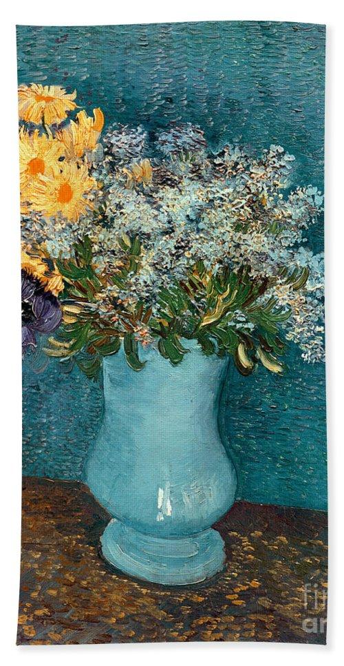 Vase Of Flowers Beach Towel For Sale By Vincent Van Gogh