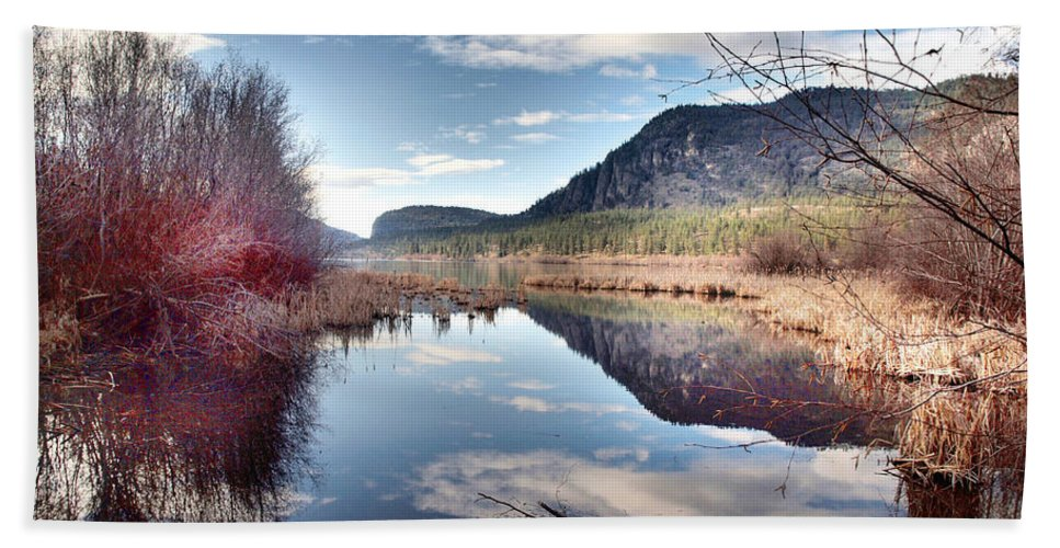 Reflections Beach Towel featuring the photograph Vaseux Reflections by Tara Turner
