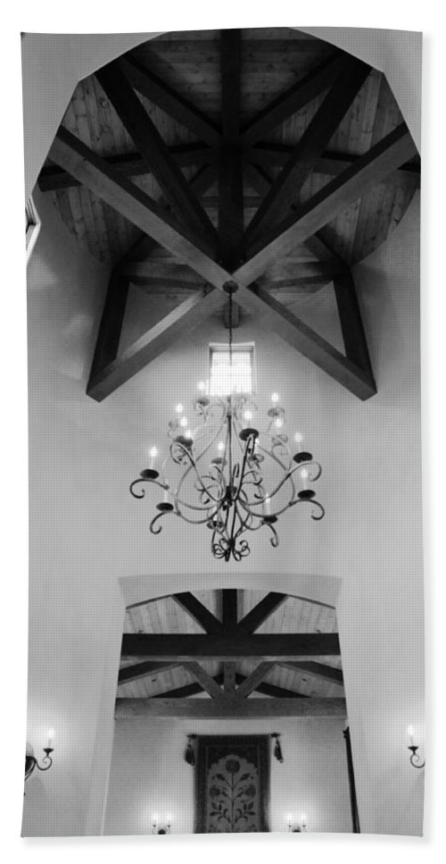 Architecture Beach Towel featuring the photograph Vaulted Ceiling by Jill Reger