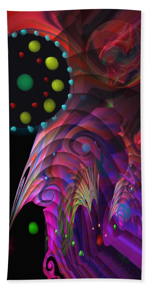 Planets Beach Towel featuring the painting Vegas Dreams by Kevin Caudill