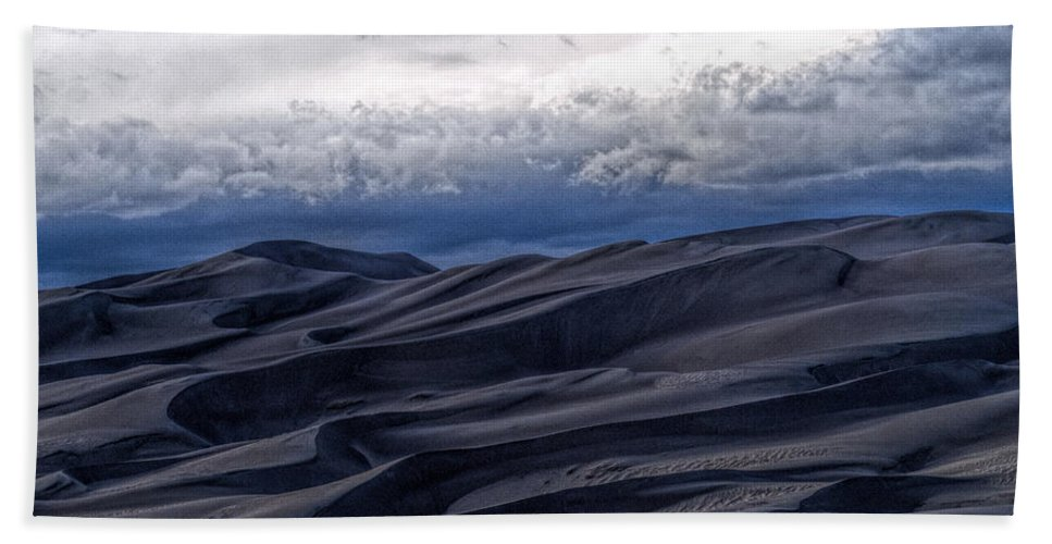 Great Sand Dunes National Park Beach Towel featuring the photograph Velvet at Night by Alana Thrower
