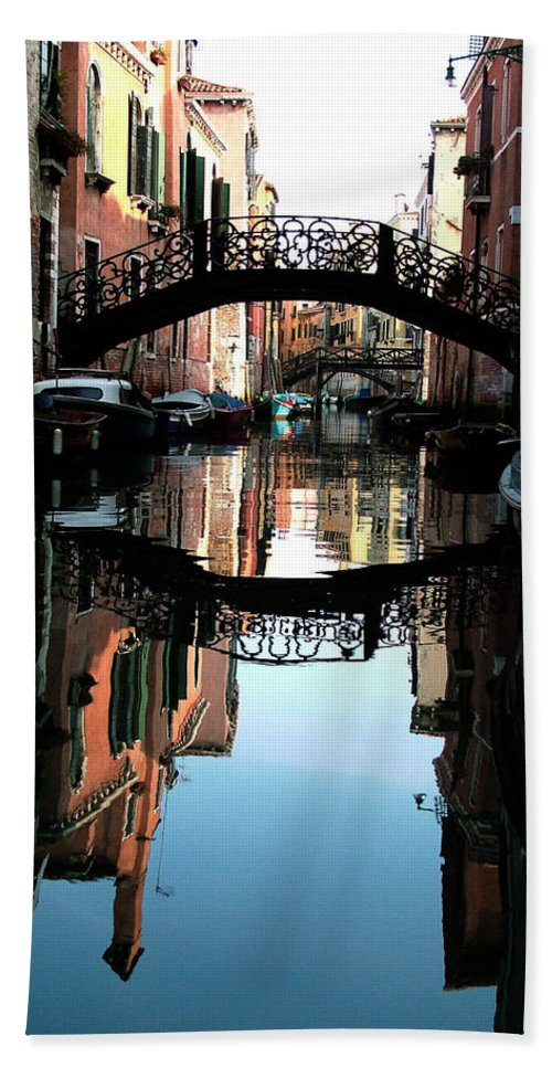 Venice Beach Towel featuring the photograph Venetian Delight by Donna Corless
