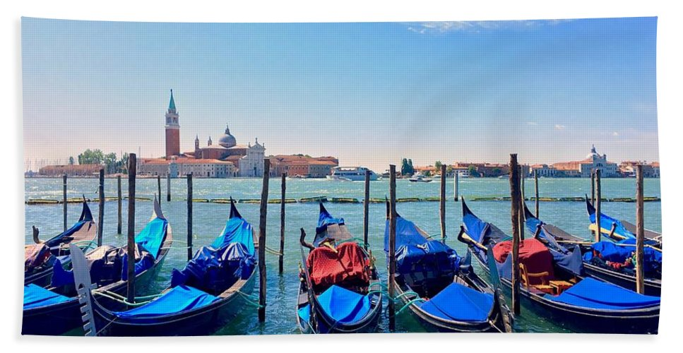 Landscape Beach Towel featuring the photograph Venice In June by Matthew Mauro