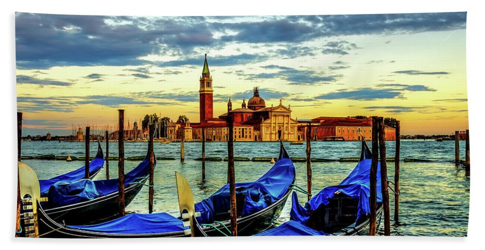 Adriatic Beach Towel featuring the photograph Venice Landmark by Maria Coulson