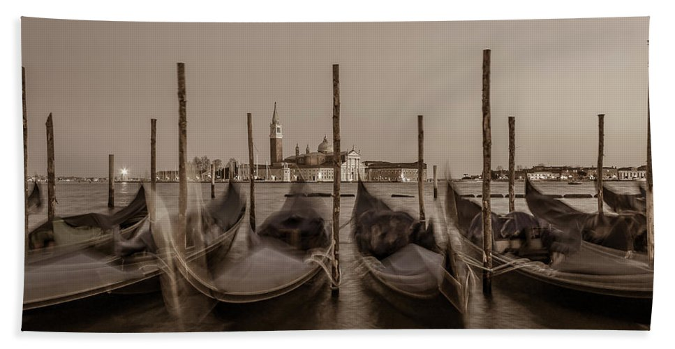 Canals Beach Towel featuring the photograph Venice by Marco Iebba