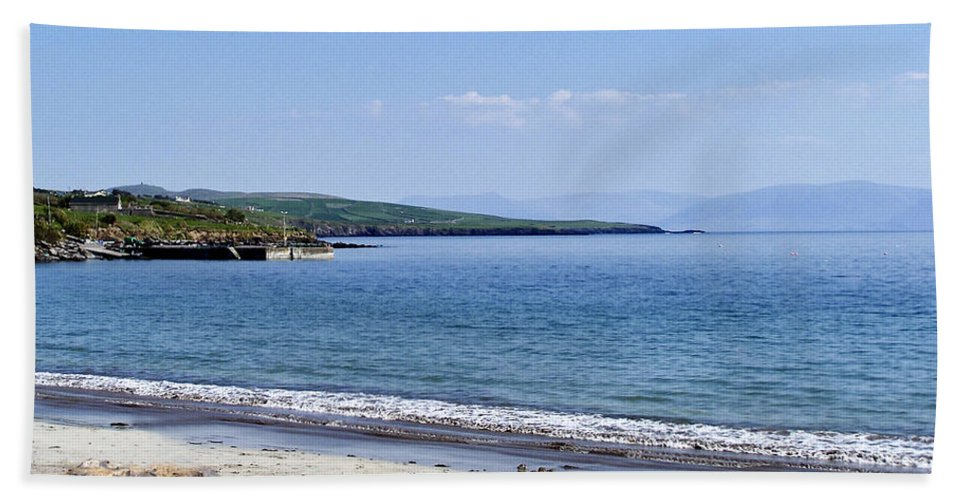 Irish Beach Sheet featuring the photograph Ventry Harbor On The Dingle Peninsula Ireland by Teresa Mucha