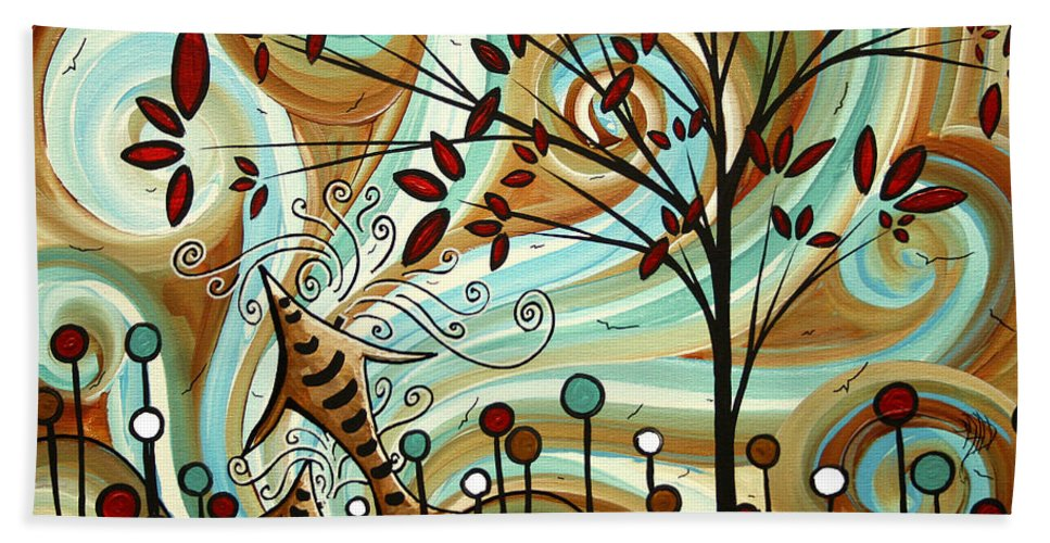 Original Beach Towel featuring the painting Venturing Out By Madart by Megan Duncanson
