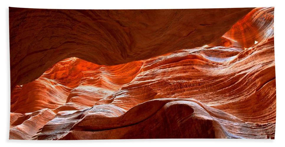 Slot Canyon Beach Towel featuring the photograph Vermilion Cliffs Abstract by Adam Jewell