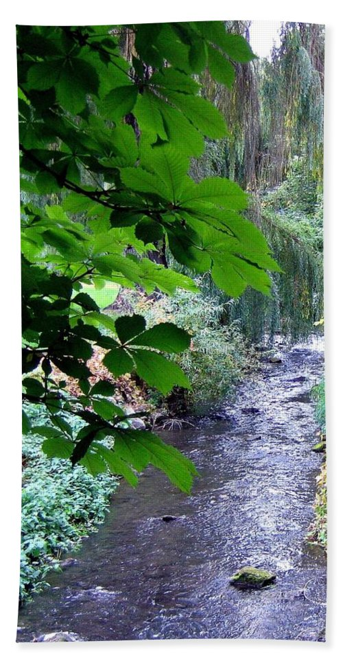 Vernon Creek Beach Towel featuring the photograph Vernon Creek by Will Borden