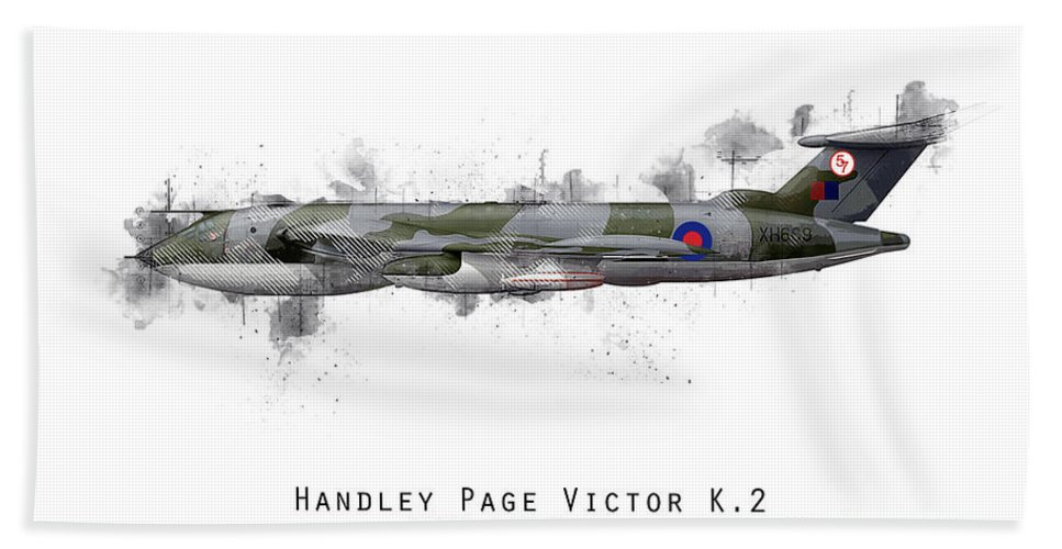 Handley Page Victor Beach Sheet featuring the digital art Victor Sketch - Xh669 by J Biggadike