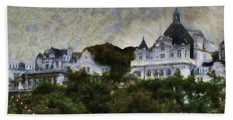 Buildings Beach Towel featuring the painting Victoria's Diamond Jubilee by RC DeWinter