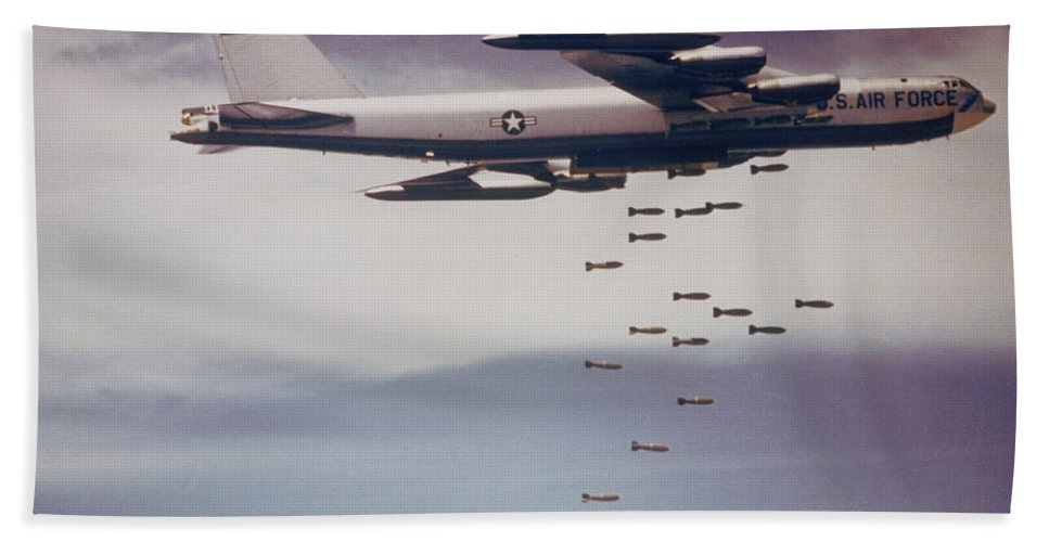 Science Beach Towel featuring the photograph Vietnam War, B-52 Stratofortress by Science Source