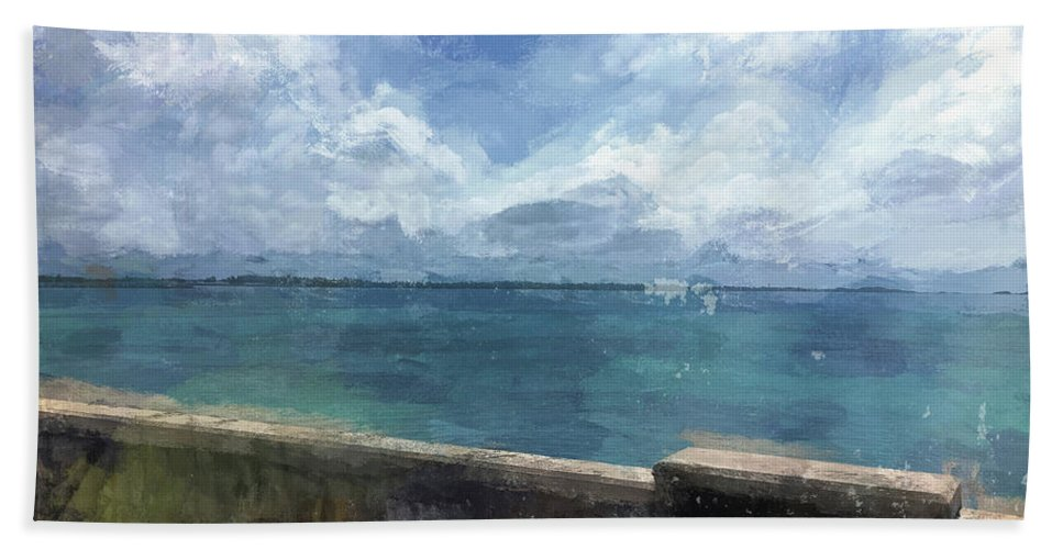 Luther Fine Art Beach Towel featuring the photograph View From Bermuda Naval Fort by Luther Fine Art
