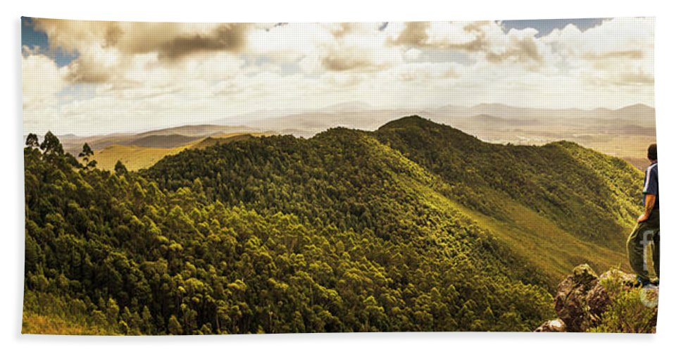 Tasmania Beach Towel featuring the photograph View From Halfway Up Mount Zeehan by Jorgo Photography - Wall Art Gallery