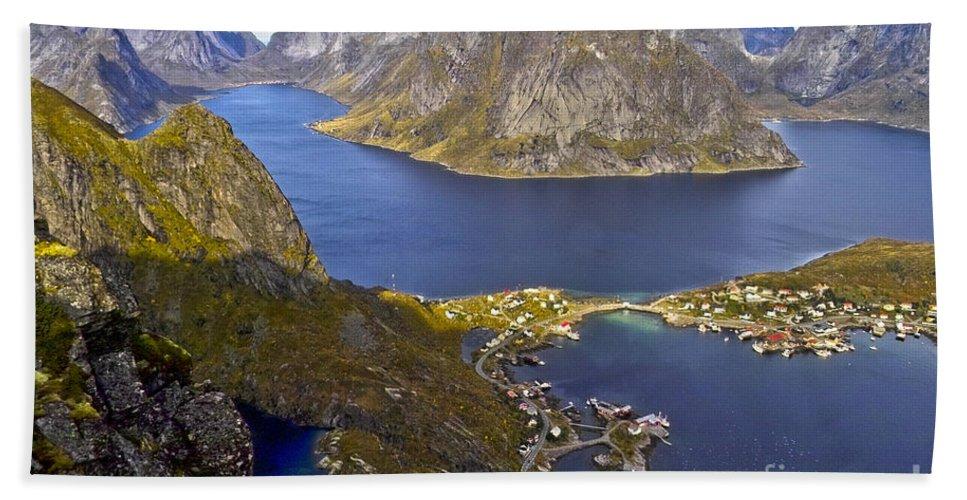 Europe Beach Towel featuring the photograph View From Reinebringen by Heiko Koehrer-Wagner