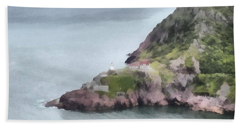 Canadian Beach Towel featuring the painting View From Signal Hill by Jeffrey Kolker