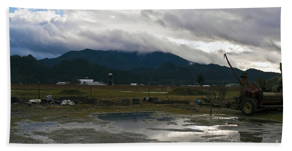 Clay Beach Towel featuring the photograph View From The Horse Barn by Clayton Bruster