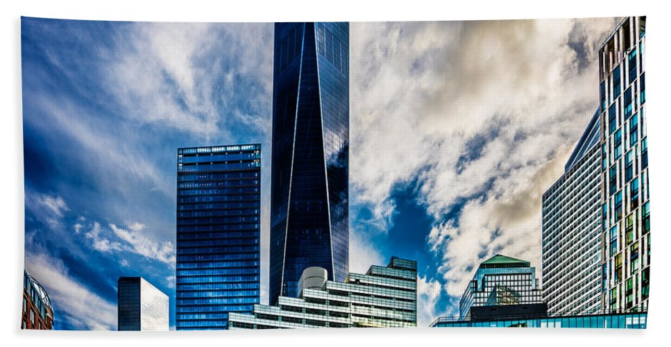 Downtown Beach Towel featuring the photograph View From Tribeca by Chris Lord