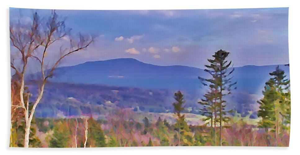 Stowe Beach Towel featuring the photograph View From Von Trapps Lodge 1 by Bill Cannon