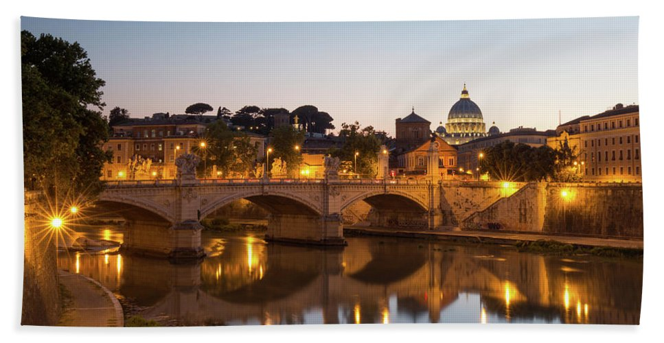 Rome Beach Towel featuring the photograph View Of Rome by Rob Davies