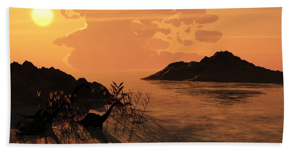 Digital Beach Towel featuring the digital art Viiew On The Day Of My Birth by David Lane