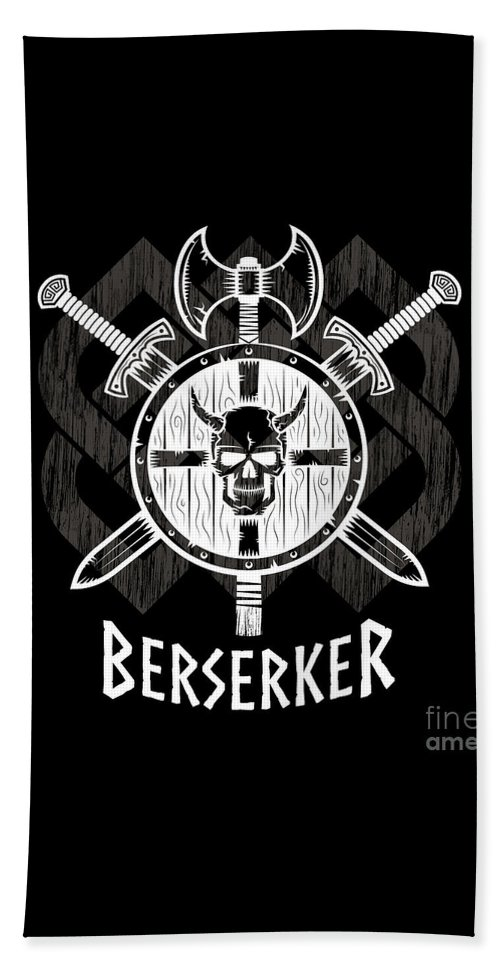 Viking Berserker Old Norse Wild Warrior Beach Towel For Sale By Tina