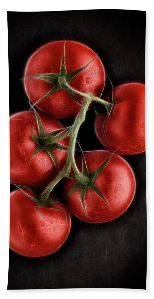 Ripe Beach Towel featuring the digital art Vine Ripened Tomatoes. by Phill Thornton