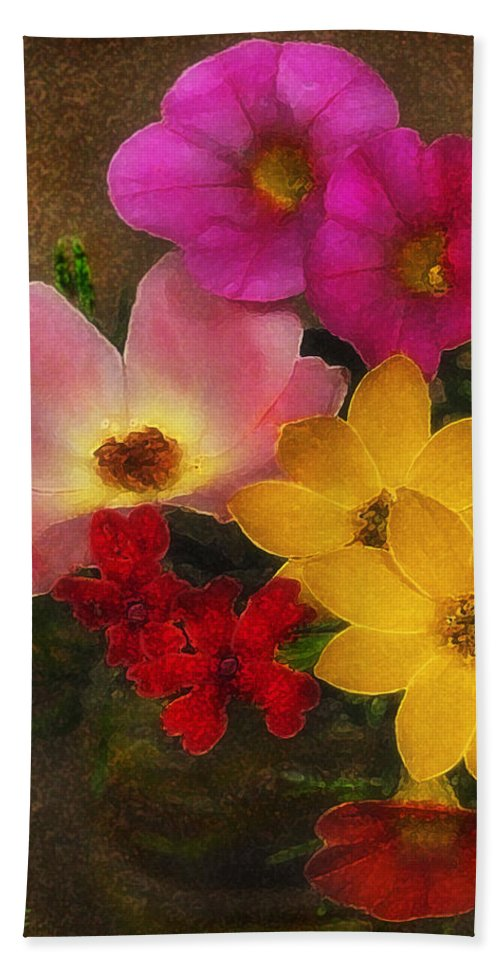 Flower Beach Towel featuring the photograph Vintage Bouquet by Ed A Gage