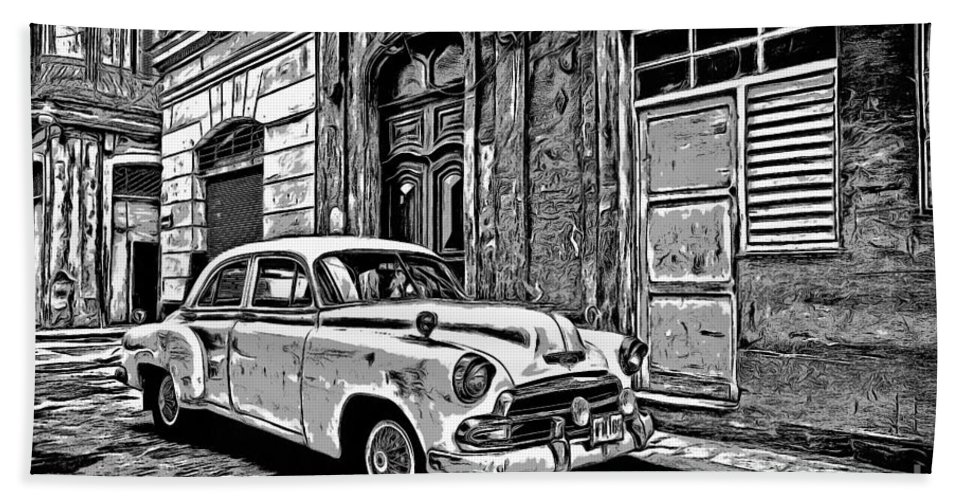 Vintage Car Graphic Novel Style Beach Towel for Sale by Edward Fielding