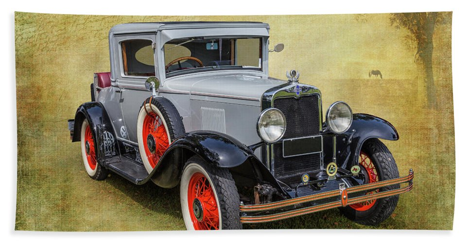 Car Beach Towel featuring the photograph Vintage Chev by Keith Hawley