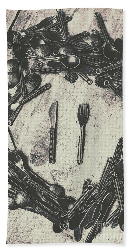 Old Beach Towel featuring the photograph Vintage Food Service by Jorgo Photography - Wall Art Gallery
