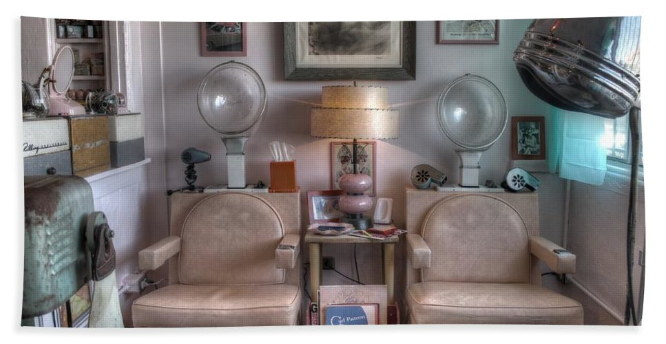Vintage Mid Century Modern Beauty Parlor Salon Beach Towel for Sale ...