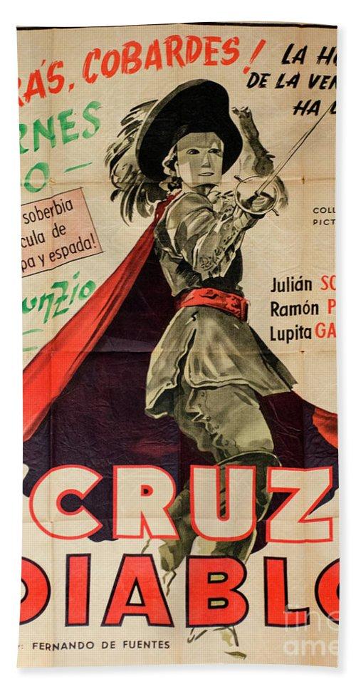 Cruz Diablo Beach Towel featuring the photograph Vintage Movie Poster 7 by Bob Christopher