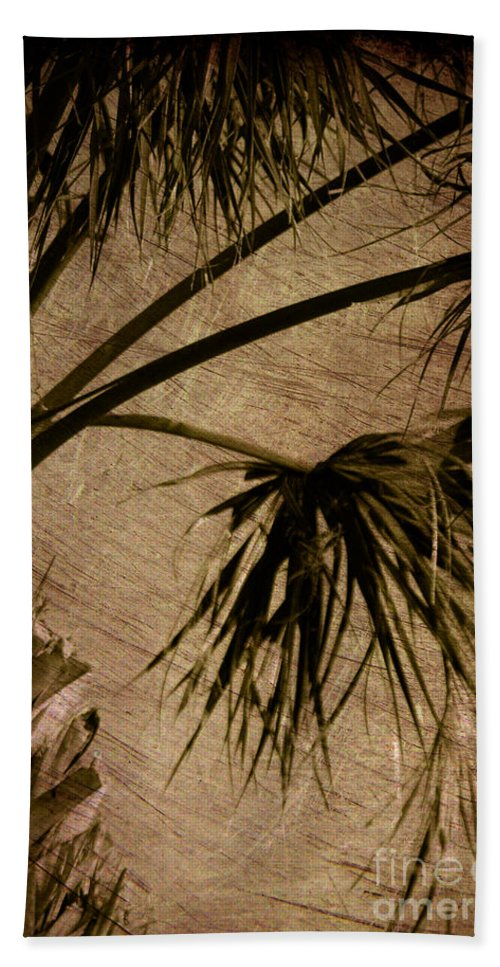 Palm Beach Towel featuring the photograph Vintage Palm by Susanne Van Hulst