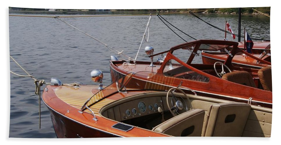 Boats Beach Towel featuring the photograph Vintage Row by Neil Zimmerman