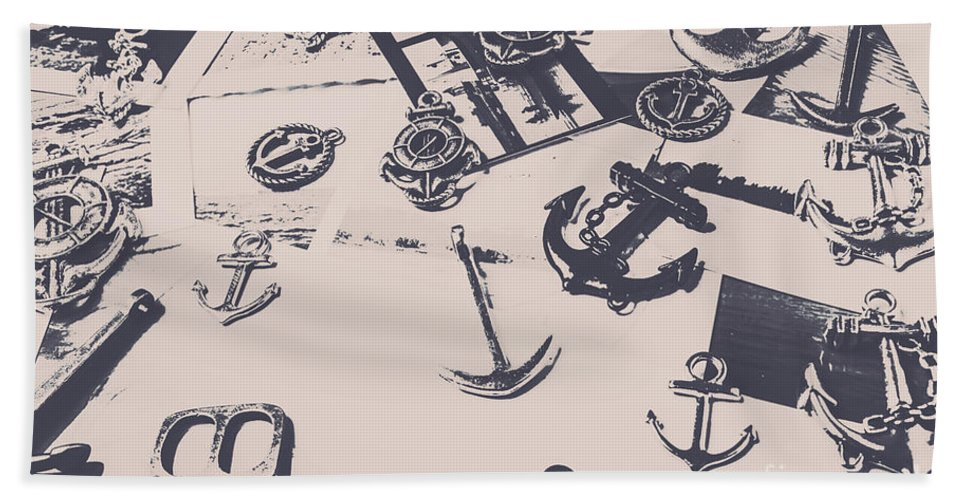 Nautical Beach Towel featuring the photograph Vintage Sailing Art by Jorgo Photography - Wall Art Gallery