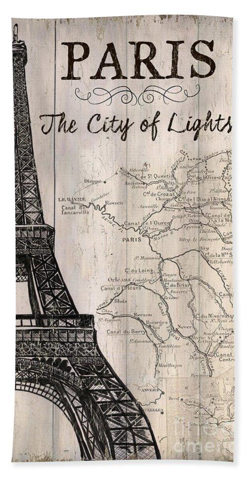 Paris Beach Towel featuring the painting Vintage Travel Poster Paris by Debbie DeWitt