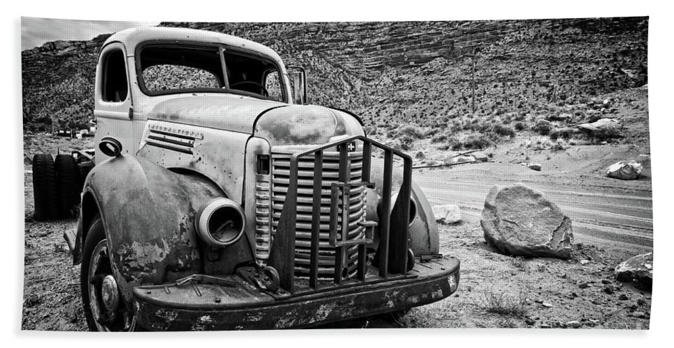 Truck Beach Towel featuring the photograph Vintage Truck by Delphimages Photo Creations
