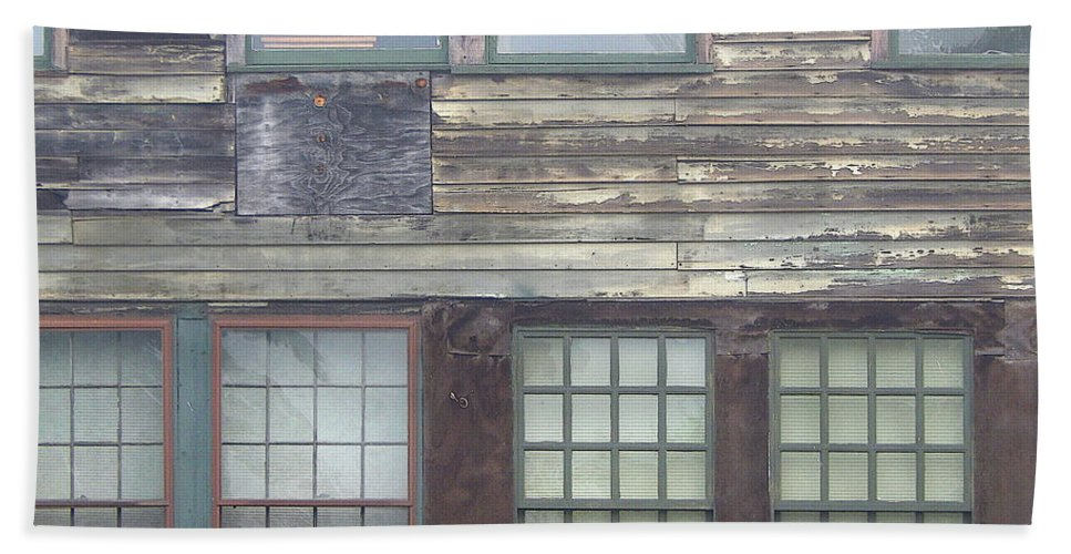 Vintage Beach Towel featuring the photograph Vintage Warehouse Building by Phil Perkins