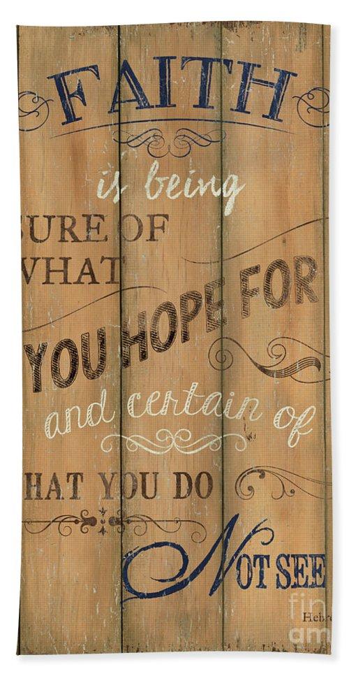 Hope Beach Towel featuring the painting Vintage Wtlb Faith by Debbie DeWitt