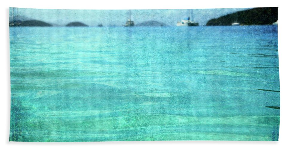 Beach Towel featuring the photograph Virgin Islands Blues by Guy Crittenden