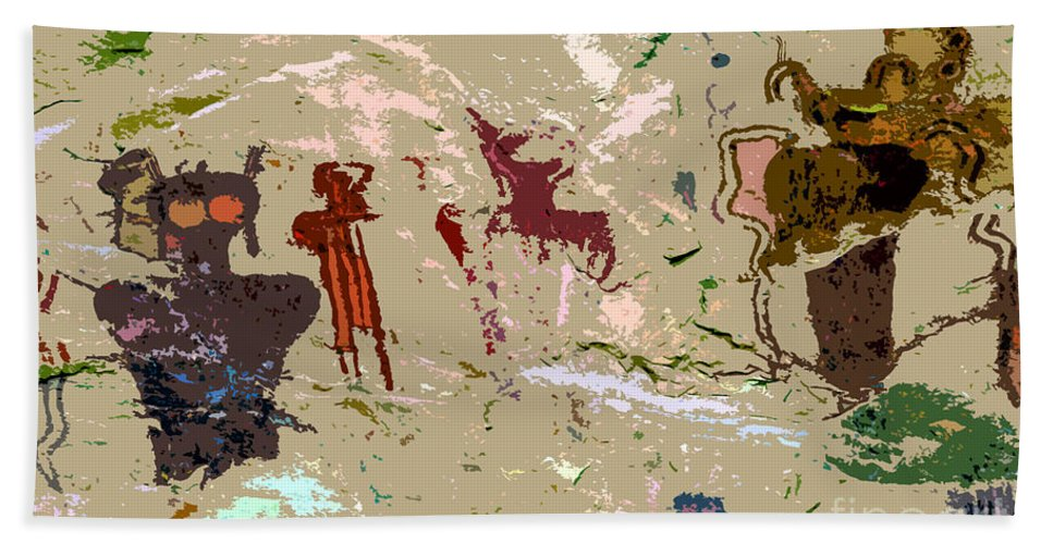Dreams Beach Towel featuring the painting Vision Quest by David Lee Thompson
