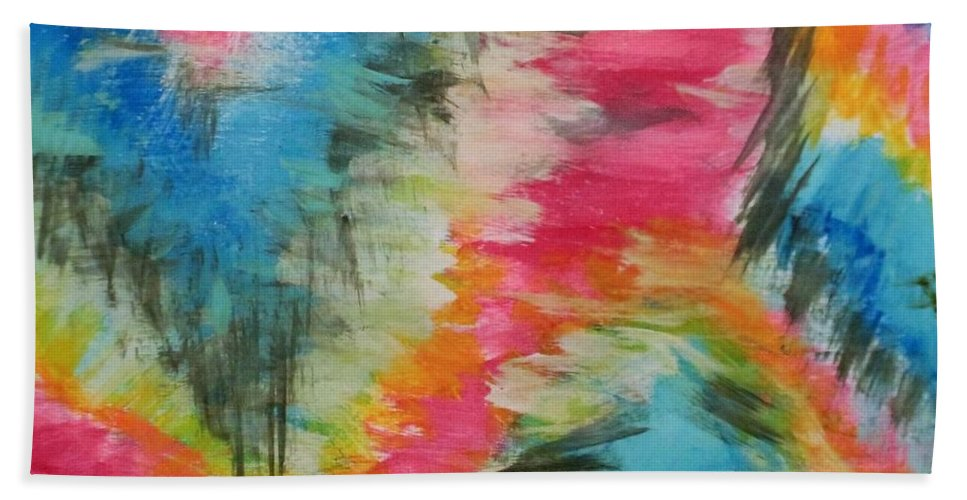 Colorful Beach Towel featuring the painting Vivid by Melisa Farthing