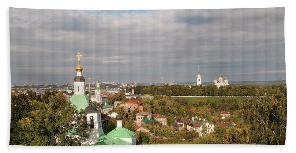 Church Beach Towel featuring the photograph Vladimir City by Sergei Dolgov