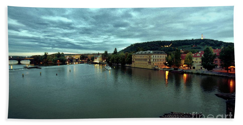 Vltava Beach Towel featuring the photograph Vltava View 2 by Madeline Ellis