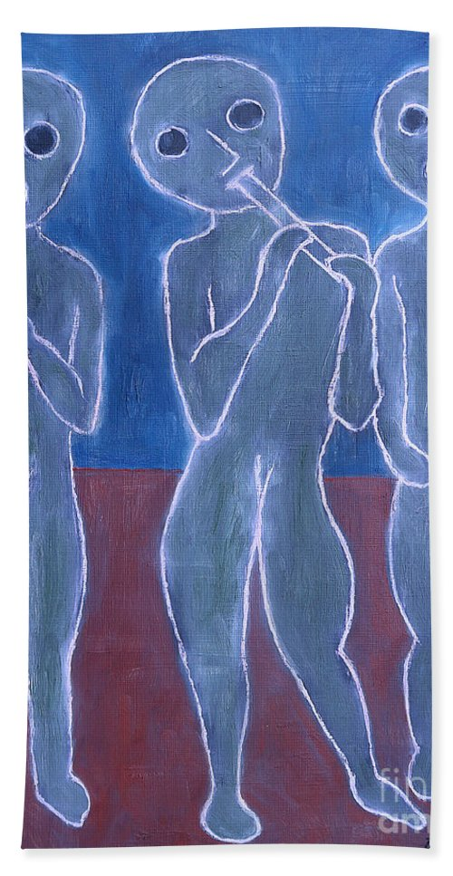 Voice Beach Towel featuring the painting Voices And Music by Patrick J Murphy
