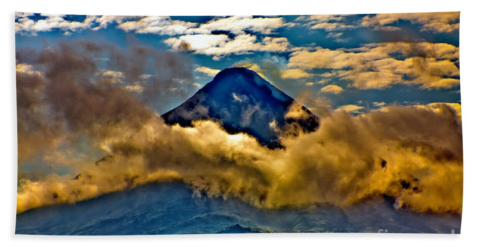 Volcano Beach Towel featuring the photograph Volcano 2 by Madeline Ellis