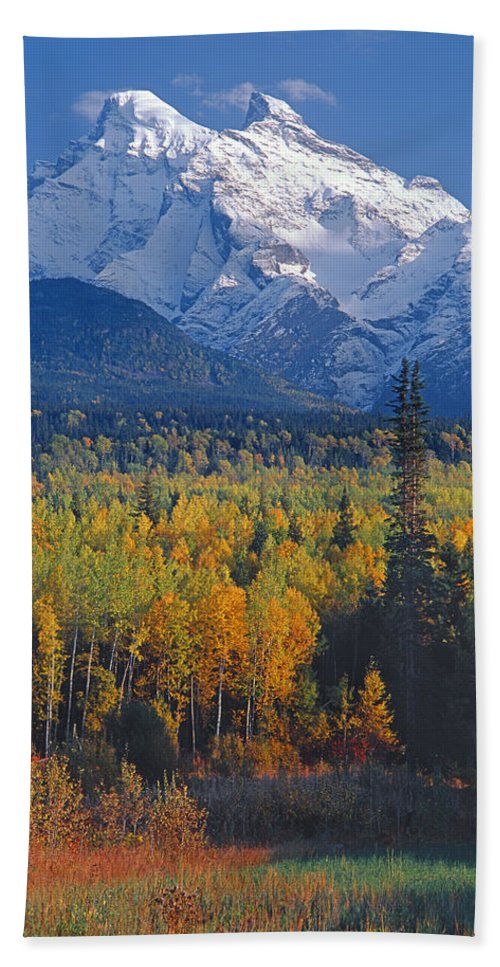 Seven Sisters Mountain Beach Towel featuring the photograph 102238-v-w End Of Seven Sisters Mountain by Ed Cooper Photography