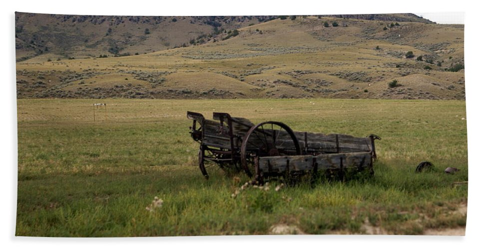 Ranch Beach Towel featuring the photograph Wagon Ho by Marty Koch