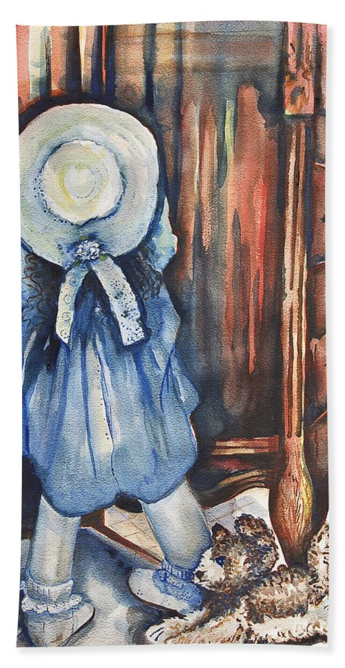 Living Room Beach Towel featuring the painting Waiting For Redemption by Johnnie Stanfield